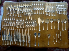 Louis 15 style Cutleryset 137 pieces in 800 solid silver, Germany 1920