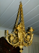 Louis 16 style Gilded bronze lamp in gilded bronze, France 1880