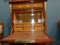 Louis 16 style Secretary in Satinwood and  different woods, France,Paris 1910,signed by E.Printz