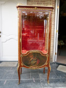 Transition style Displaycabinet signed F.Linke in satinwood and gilded bronzes, France 1890