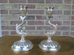 Louis Philippe style Pair candelabra in silver 915 1880