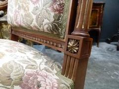 Louis 16 style Sofaset in carved wallnut, France 1900