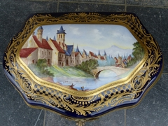 style A huge Sévres box in porcelain, France,Sévres 1900