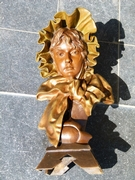 Art-nouveau style Sculpture of young lady signed Méllili in patinated bronze with foundry stamp, France 1890