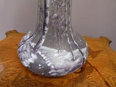 Art nouveau style Vase in Legras style in glass and enamel, France 1920