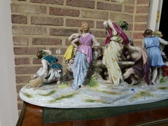 Belle epoque style Group with 12 people of the harvest in Rudolstadt,porcelain, Germany 1940