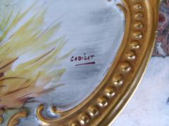 Belle epoque style Plate with romantic scene signed
