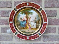 Belle epoque style Porcelain plate with
