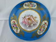 Belle epoque style Porcelain plate with romantic scene in porcelain,Sévres, France ,Sévres 1880