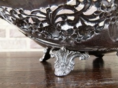 style Centerpiece with flowers in 925 silver 520 gr 1900