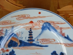 Chinese 18 century Qianlong Plate  in porcelain, China 1735-1796