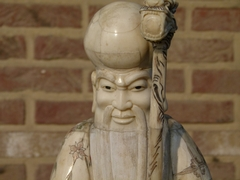Chinese style Sculpture of Shou lao in carved bone, China 1930