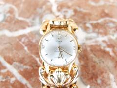 Cyma cymaflex style 18k Golden lady watch in 18k gold total 51gr., Swiss 1960