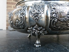 Dutch style Solid silver Box in 835 silver, The Netherlands 1920