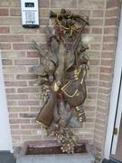 Hunting style Decorative carved and patinated wall sculpture in carved pine 1920