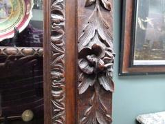 Hunting style Bookcase in carved oak, France 1880