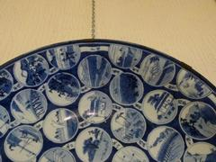Japanese style Big Japanese arita plate with all provinces of Japan in porcelain, Japan
