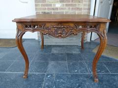 Louis 15 style Salontable coffeetable in carved oak, België,Liége 1950