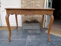 Louis 15 style Table in carved oak, Belgium 1900