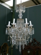 Louis 16 style Lamp in silverplated bronze and crystal, France 1930