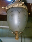 Louis 16 style Lamp in bronze and glass, Belgium 1920