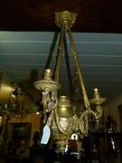 Louis 16 style Lamp in havy quality in gilded bronze, France 1910