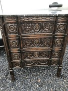 Louis 16 style Nice carved chest of drawers in oak, Belgium 1900