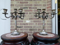 Louis 16 style Pair candelabra around 1600gr  in silver 800