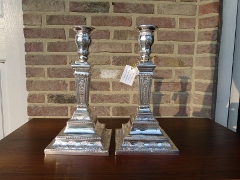 Louis 16 style Pair candelabra in 925 solid sterling silver 767gr 1870
