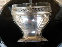 Louis 16 style Centerpiece with crystal in 800 silver signed RR 1880