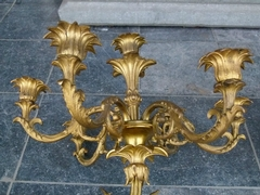 Louis Philippe style Pair appliques in gilded bronze, France 1870