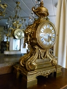 Napoleon 3 style clock in gilded bronze, France 1870