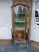 Napoleon 3 style Display cabinet with curved glass and vernis-matin, France 1880