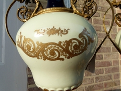 Napoleon 3 style Pair Sévres vases in porcelain, France 1890