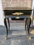 Napoleon 3 style Sewing table  in ebonesed wood and gilded bronze, France 1880