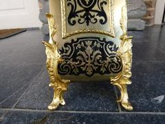 Napoleon III style Boulle Cartel with tortoiseshell in gilded bronze and marqueterie, France 1870