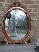 Napoleon III style Boulle mirror  in inlay with tortoiseshell and gilded bronze, France 1870