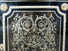 Napoleon III style Boulle style 1 door cabinet in ebonised wood,gilt bronze,black marble and tortoiseshell, France 1870
