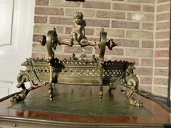 Napoleon III style Display tray in gilded bronze and onyx, France 1880
