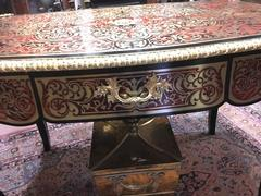 Napoleon III style Lady,s desk in Boulle style in Boulle marquetery with turtelshell, ebonised wood and gilded bronzes, France 1870