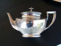 Napoleon III style Sterling silver coffee and tea set 3300 gram in 925 sterling silver 1880