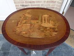 Napoleon III,in the manner of Topino style Marqueterie table in satinwood and different woods, France 1880
