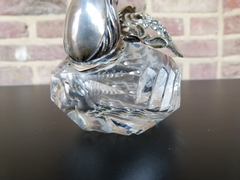 style Sugar pot in the model of a swan in silver 835 and crystal, Germany 1920