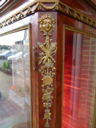 Transition style  F.Linke signed Displaycabinet  in satinwood and gilded bronzes, France 1890
